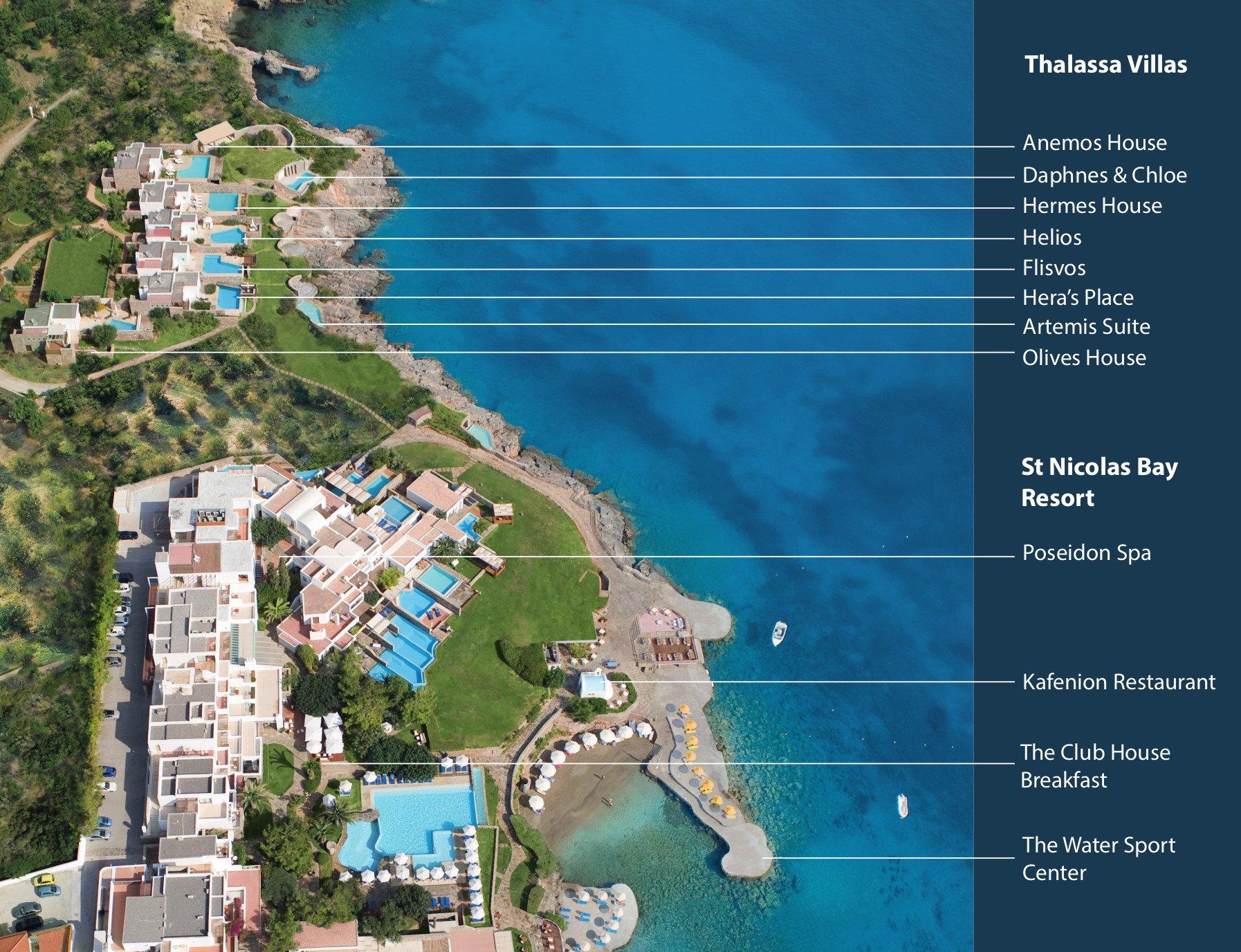 Crete Villa Holidays Agios Nikolaos Crete Thalassa Villas
